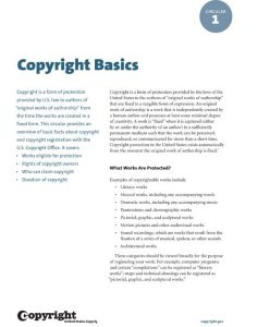 New Circulars from Copyright Office
